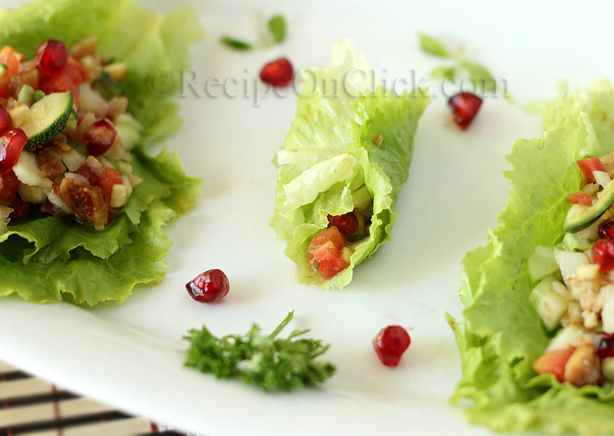Sweet and sour salad wraps