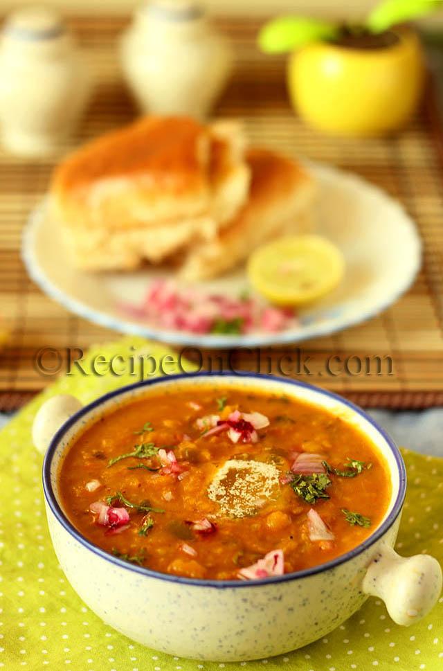 Restaurant style pavbhaji