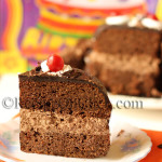 Eggless Chocolate Mousse Cake with chocolate Ganache