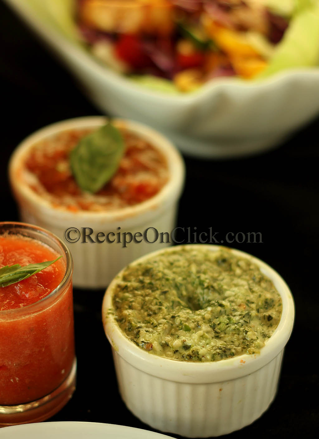 Pesto with Cashew nuts and hung curd with hint of mint
